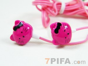 KITTY猫头彩线MP3耳机