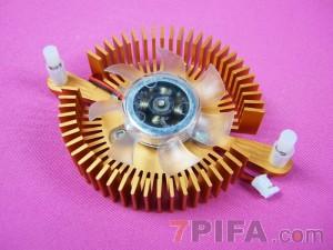 80孔位 铜色圆形显卡散热风扇\散热器