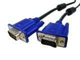 [3+4]1.5米 兰色头VGA 公(M)/公(M) 双磁环3+4连接线[公/公]