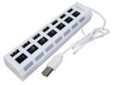 [七口独立开关] 贴片长线七口2.0 USB集线器HUB