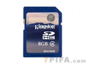 8G SD8 Kingston金士顿SD卡