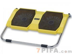 [黄色]RL-309 战盾冰锐笔记本高级散热垫\散热风扇