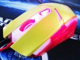 [特价]LLS-3117 雷凌狮闪电侠透光土豪金6D四档变速专业游戏鼠标[USB]