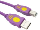 3米 晶华AM/BM 全铜标准USB2.0灰色系列打印线