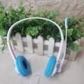 [蓝色]欧凡 OV-T461MV 风火轮外形 头戴式耳机 电脑耳麦