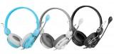 [白色]M6150 现代/HYUNDAI头戴式立体声电脑耳机