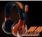 [黑橙]X6 欧凡豪华高级游戏 大耳罩式电脑多媒体立体声耳麦