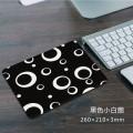 黑色小白圈方形鼠标垫[260X210X3MM]