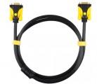 [黑线黄头]1.5米晶华VGA3+6铜包铝公M/公M系列连接线