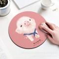 可爱猪圆形鼠标垫