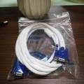 1.5米 白线蓝头VGA高清连接线